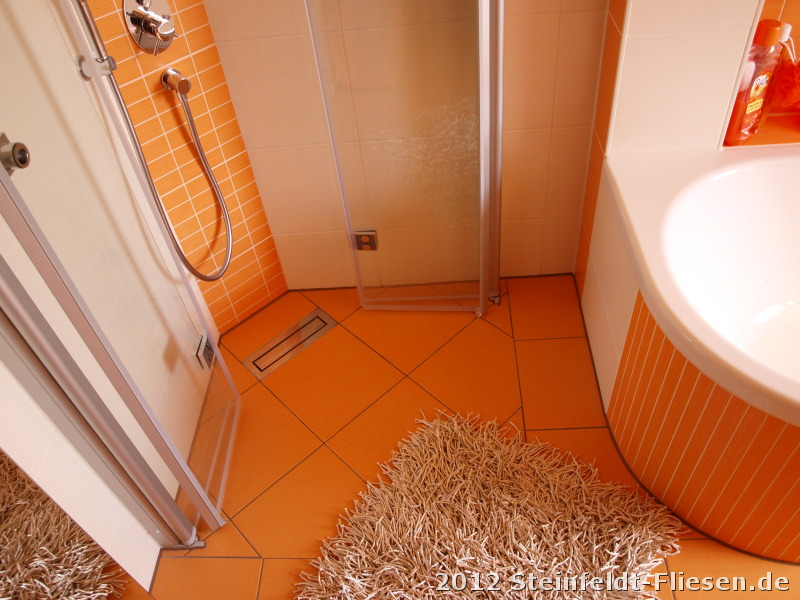 Verblüffend Moderne Badezimmer Fliesen Orange Konzept